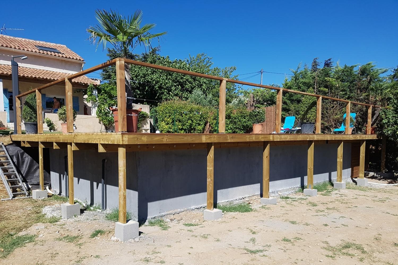 Concept design piscine jardin spa marseille aix en for Piscine concept bois